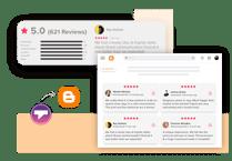Taggbox airbnb Reviews widget on blogger