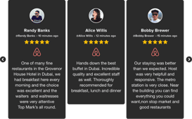 Airbnb customer reviews widget
