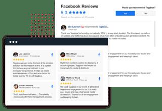 Facebook reviews widget for website