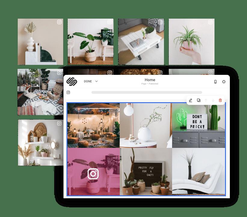 Instagram widget on sqaurespace