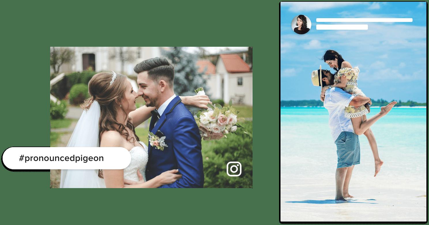 Instagram Wedding Wall