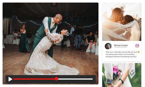 Introducing Virtual Wedding Social Media Walls