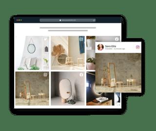 social media widget html