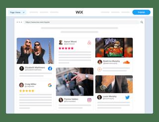 social media widget wix