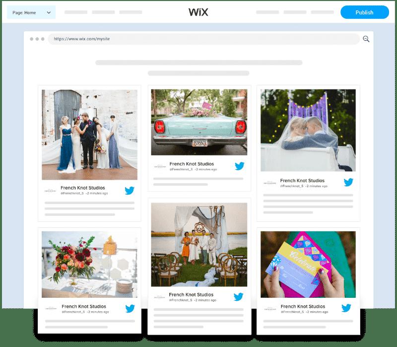 Embed Twitter Feed Widget on Wix website