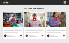 responsive youtube playlist widget