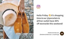 Instagram Digital signage