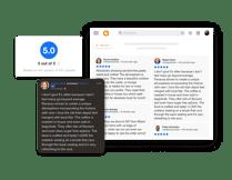 Facebook reviews widget for Blogger website