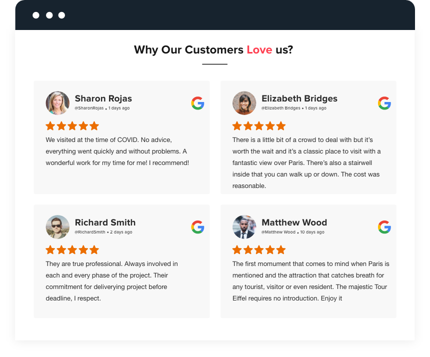 Embed Reviews On Website