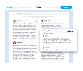 Embed google Reviews On Wix
