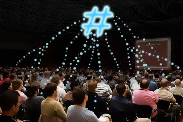 social wall hashtag