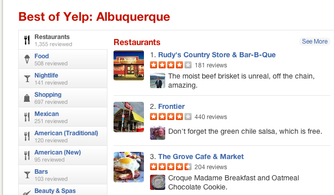 Yelp Review for Restaurants