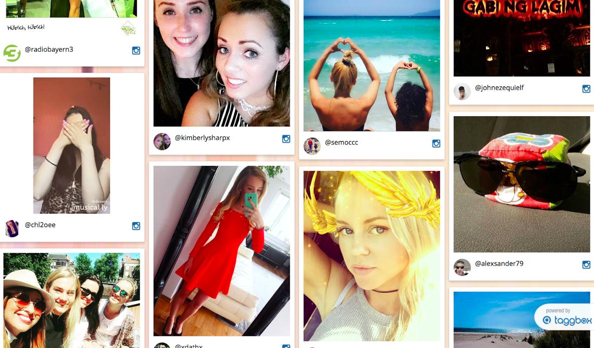 Instagram Feed on website