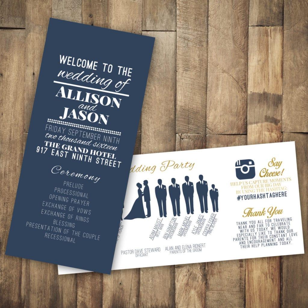 Hashtag on Wedding Invitations