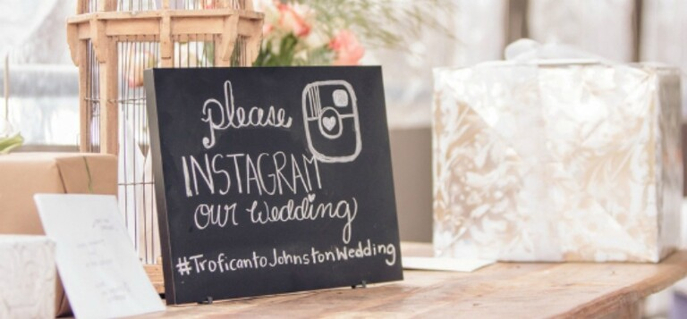 7 Ways to Encourage your Guests to Use your Wedding Hashtag