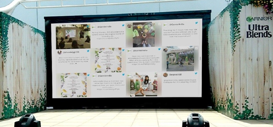 Social Wall at Product Launch audience engagement