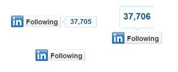 linkedin follow button