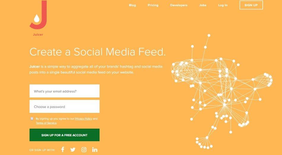 Juicer.io alternative social wall