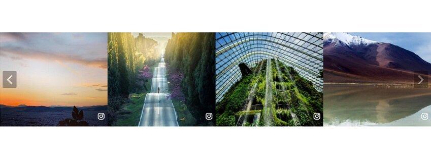 horizontal slider - Instagram Template