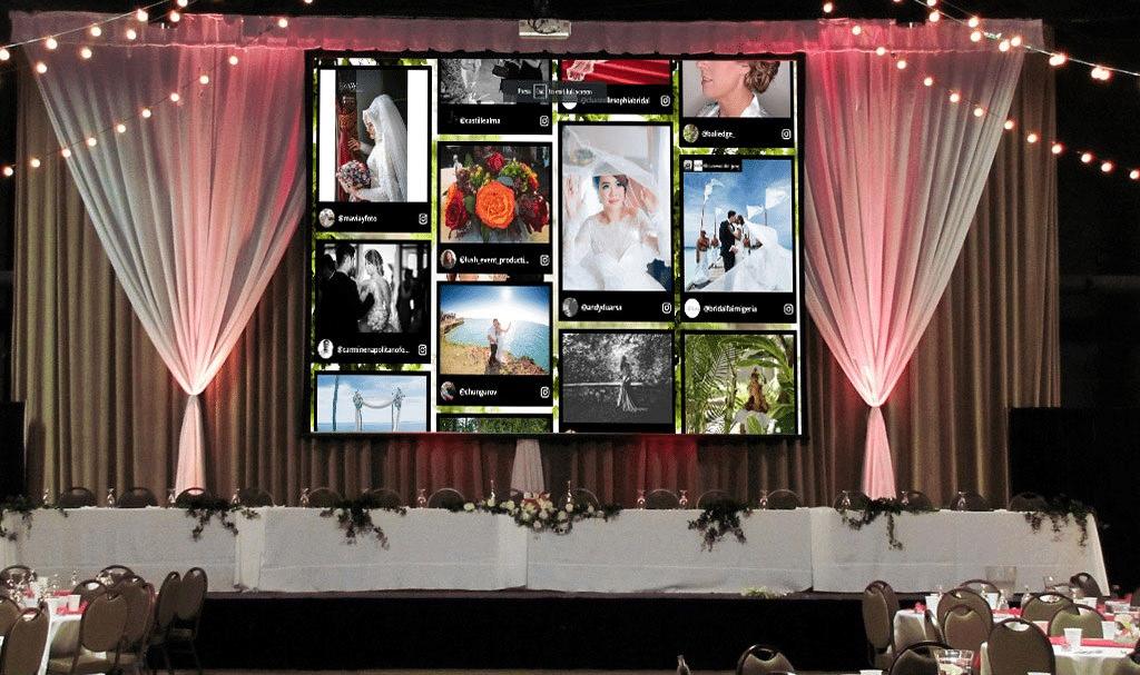 taggbox wedding wall