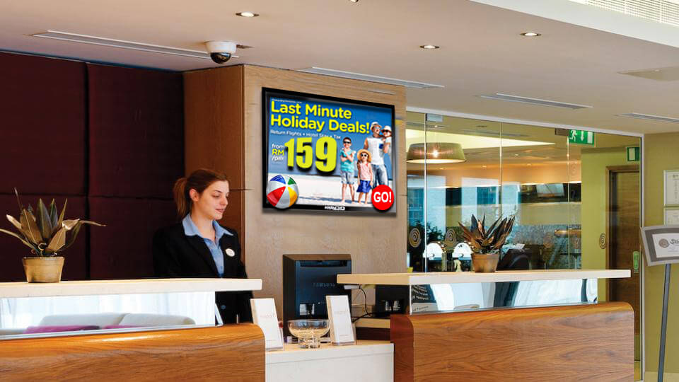 Special Offers on Hotel Digital Signage