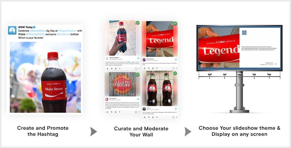 how to make instagram hashtag slideshow