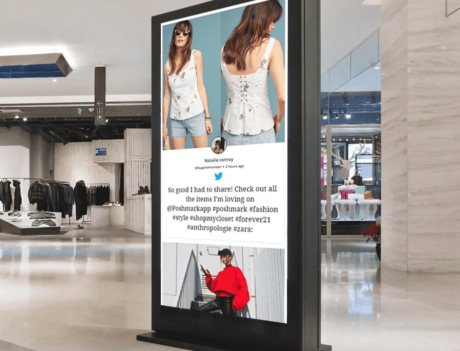 social media digital signage