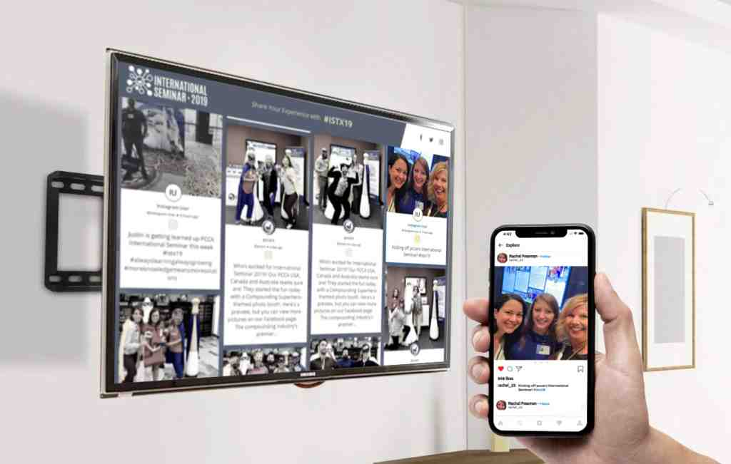 social media digital signage for interactions