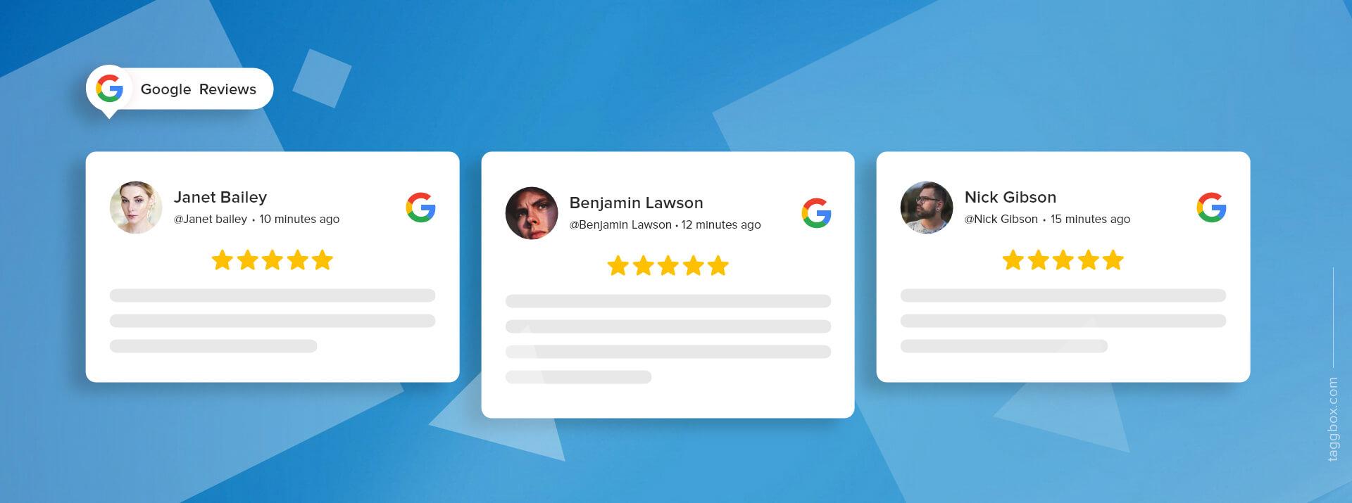 embed google review widget