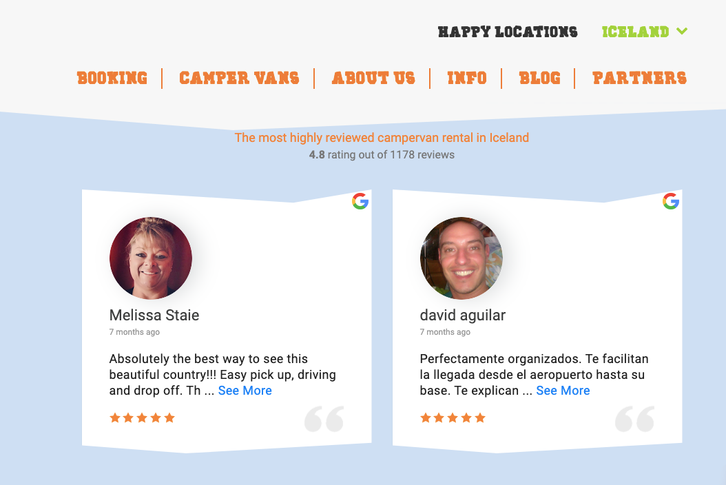 embed google review on website