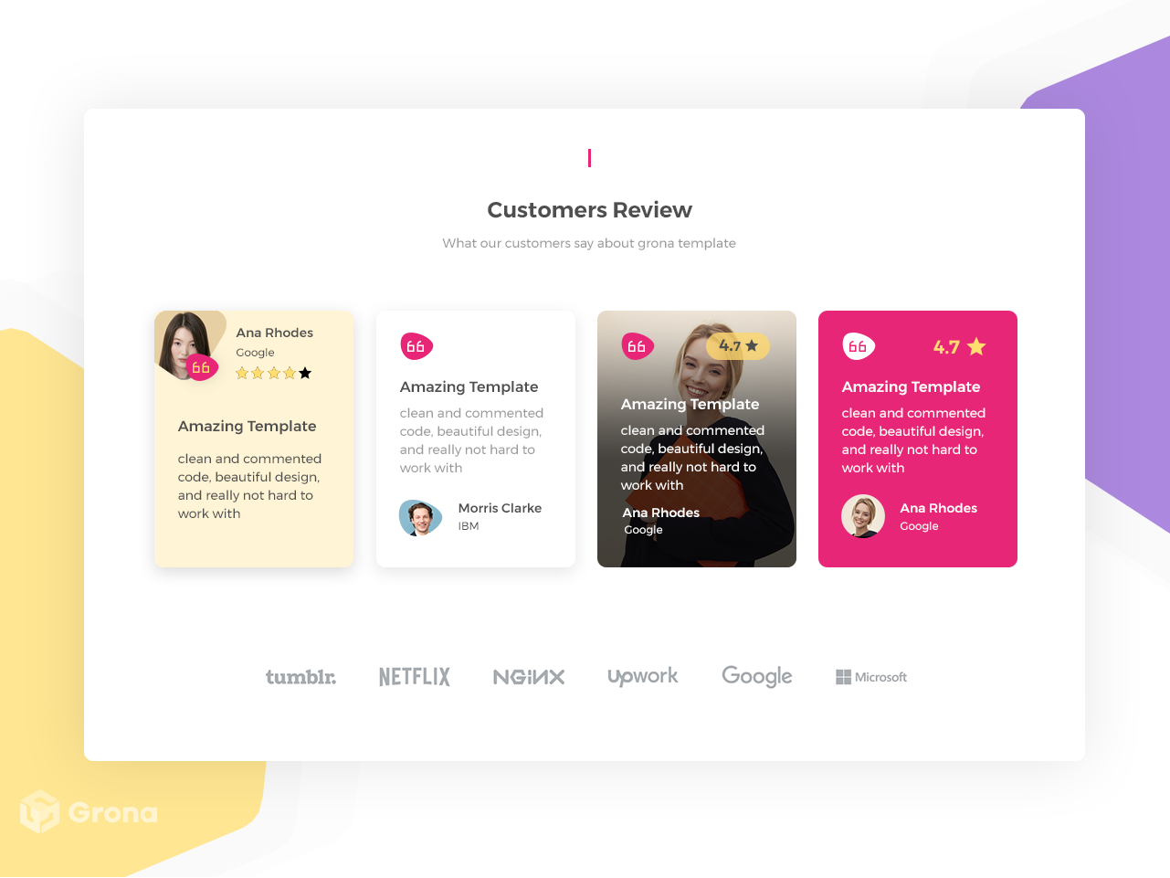 add reviews to website