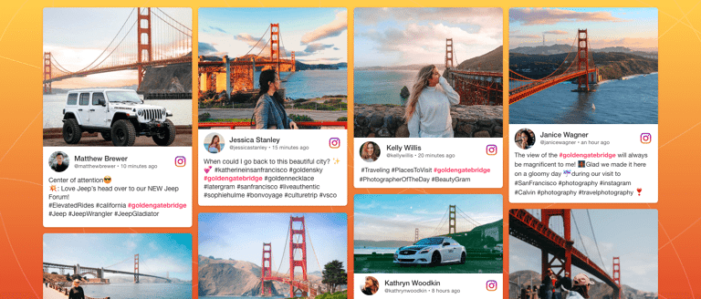instagram hashtag feed on website