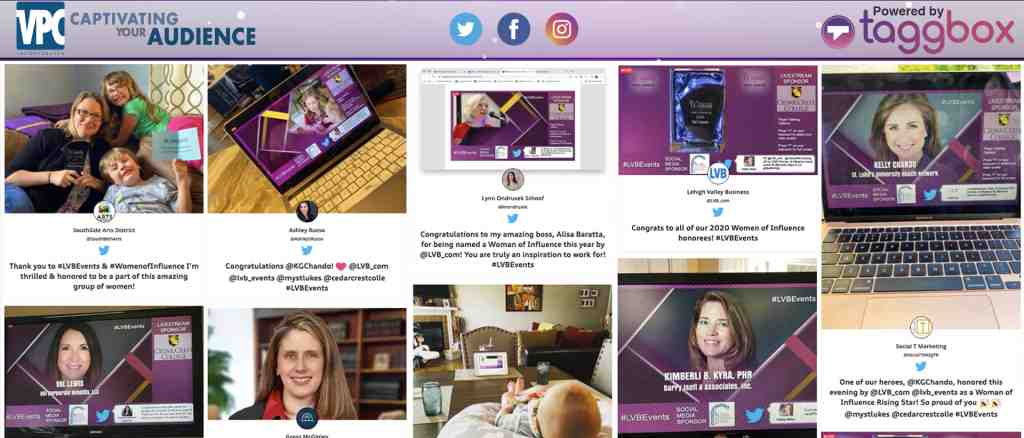 Social wall in virtual confrance
