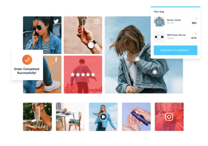shoppable Instagram widget