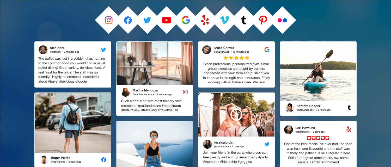 Taggbox social media aggregator