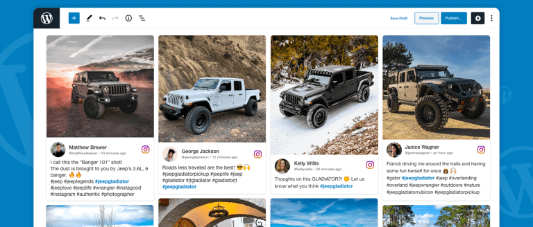Instagram Feed on Wordpress