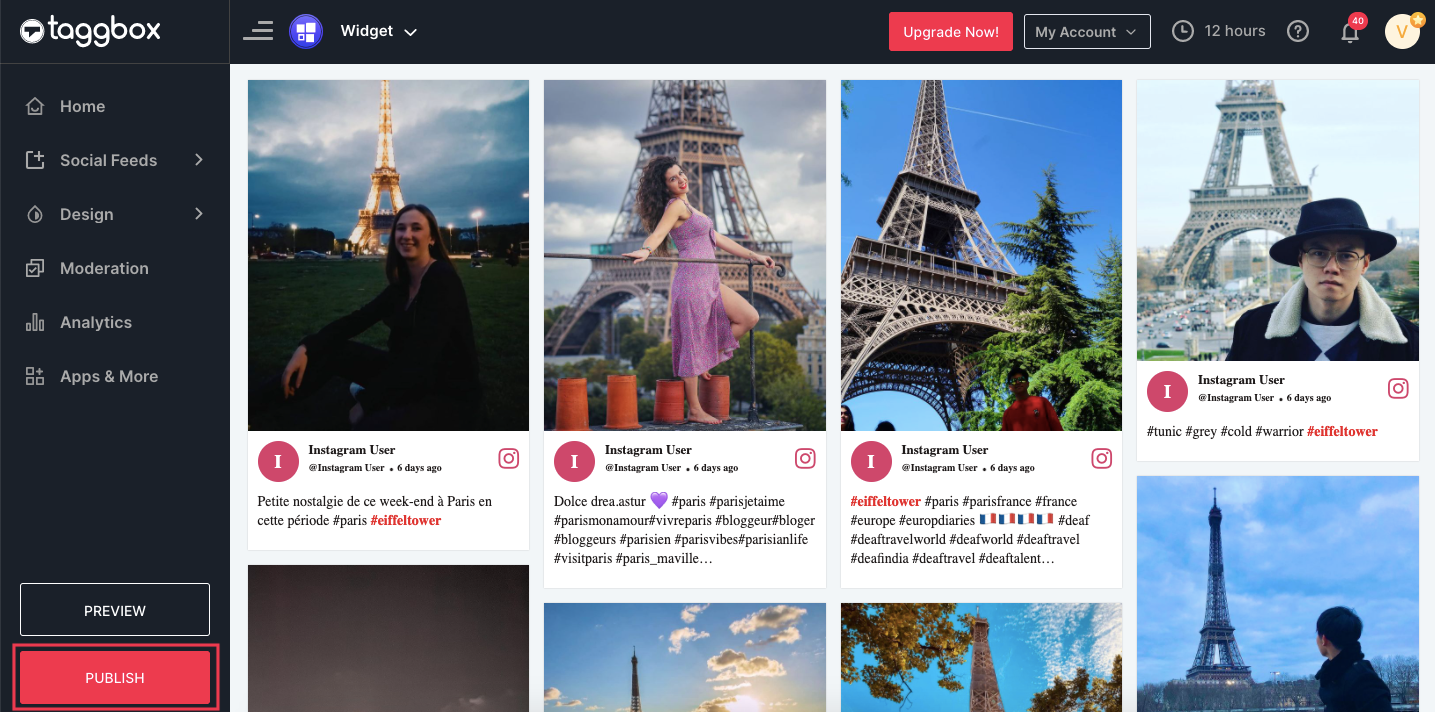 how to add instagram posts to shopify