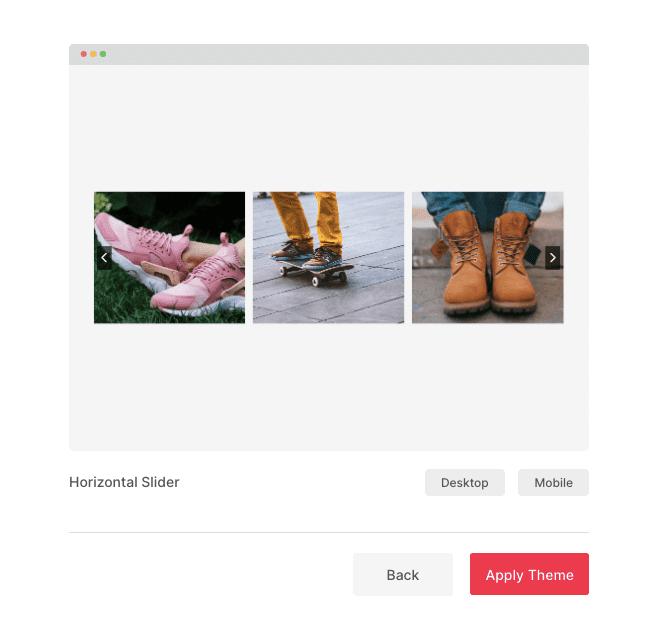 Apply Slider widget theme