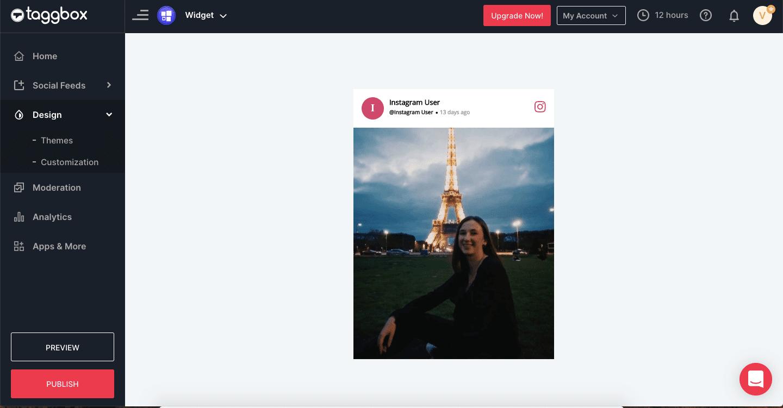 embedding Instagram feed on website