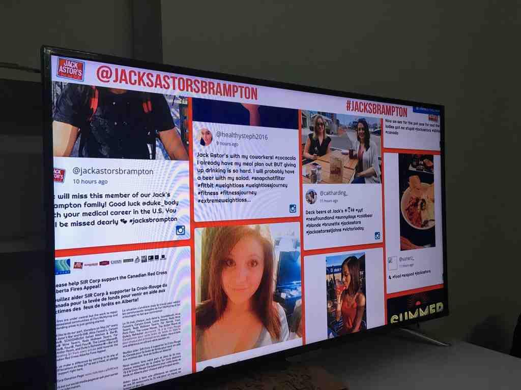 social wall on TV