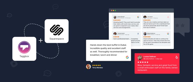 Reviews on squarespace