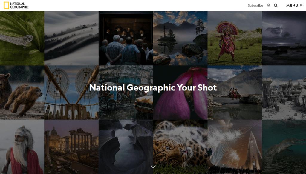 Nat Geo Visual content marketing