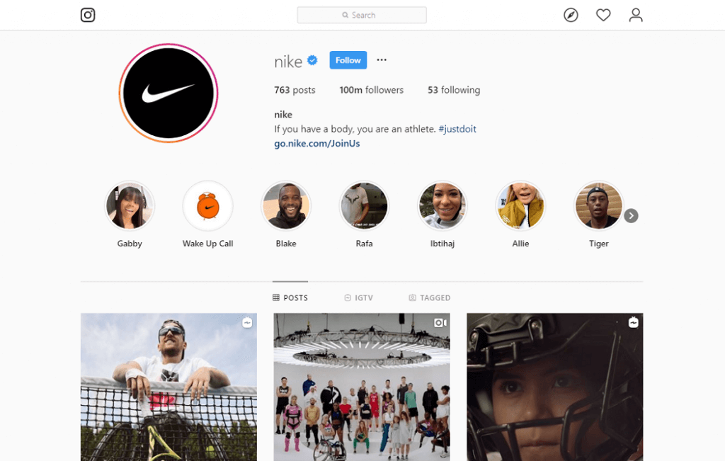 NIke Visual Content