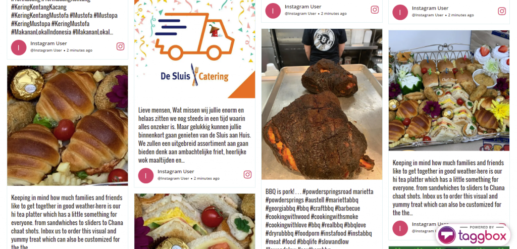 Instagram Wall for Restaurant