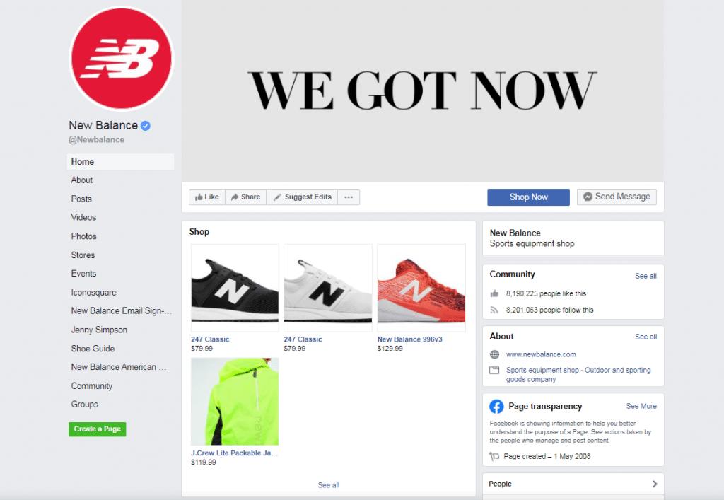New Balance Social Commerce