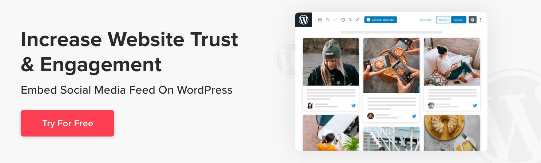 add social media feeds on wordpress