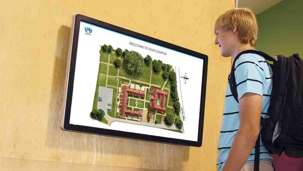 Navigation system on digital signage