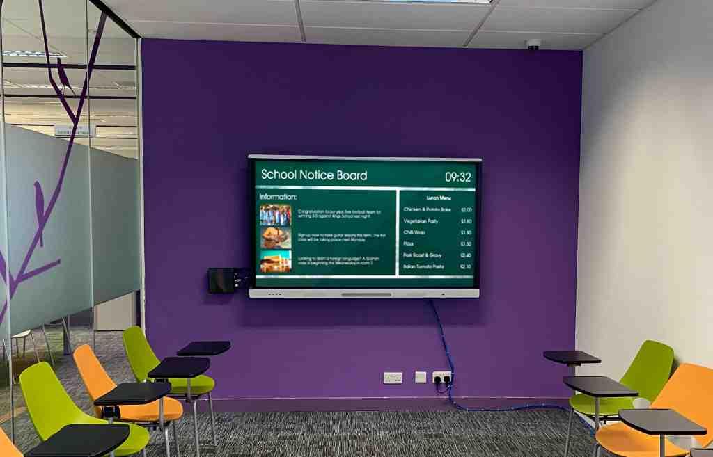 Digital Notice Board in School