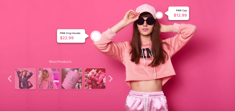 shoppable product tags