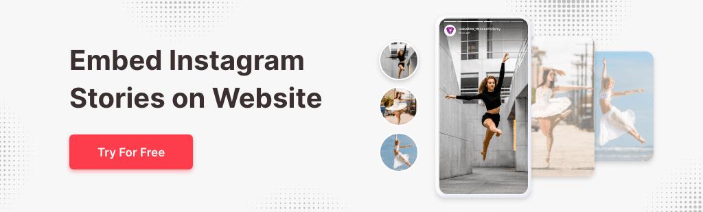 Instagram Stories on website